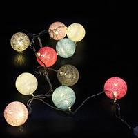 Xmas гирлянд Клубки ниток 10 LED 2M Мультицветная с соединителем