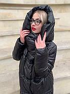 Черное пальто пуховик Tongcoi 7007-B701, фото 4