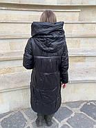 Черное пальто пуховик Tongcoi 7007-B701, фото 5