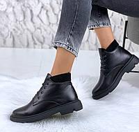 Ботинки теплые кожа, фото 1