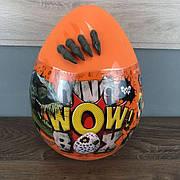 Детский набор для творчества Dino WOW Box Danko Toys яйцо сюрприз мальчиков детей игровой оранжевое