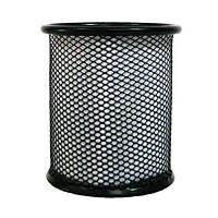 Подставка для ручек металлическая круглая черная, 562000