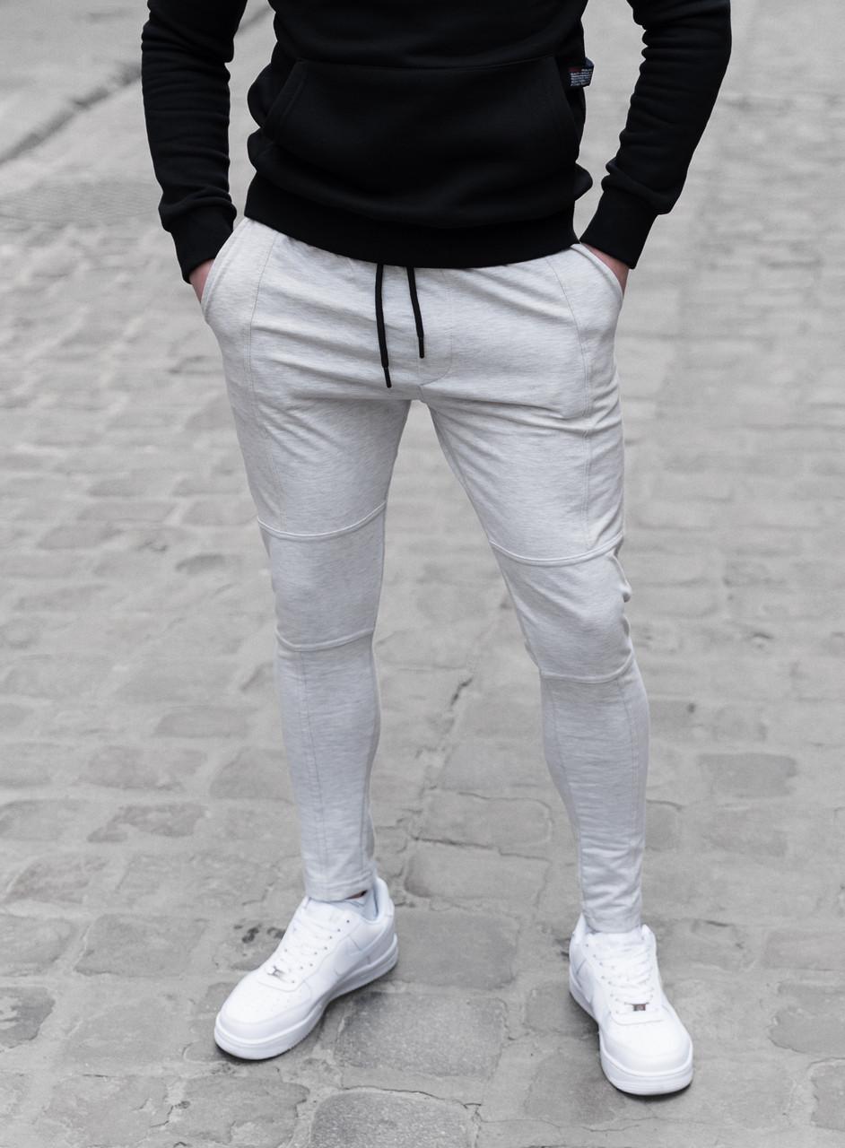 Мужские штаны зауженные темно-серые / Турция Светло-серый, M