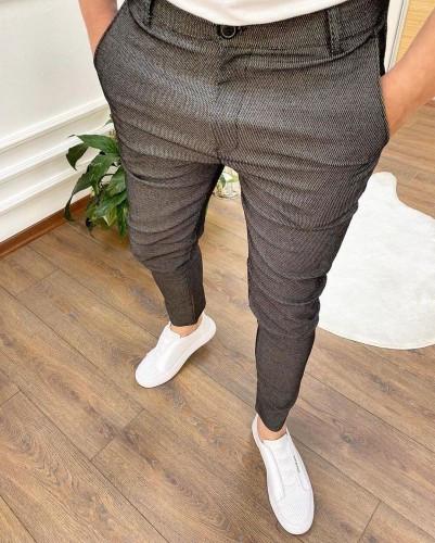 Мужские брюки зауженные черные/ Турция Темно-серый, S