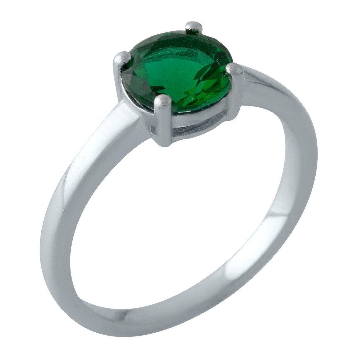 Серебряное кольцо DreamJewelry с изумрудом nano (2012740) 19 размер