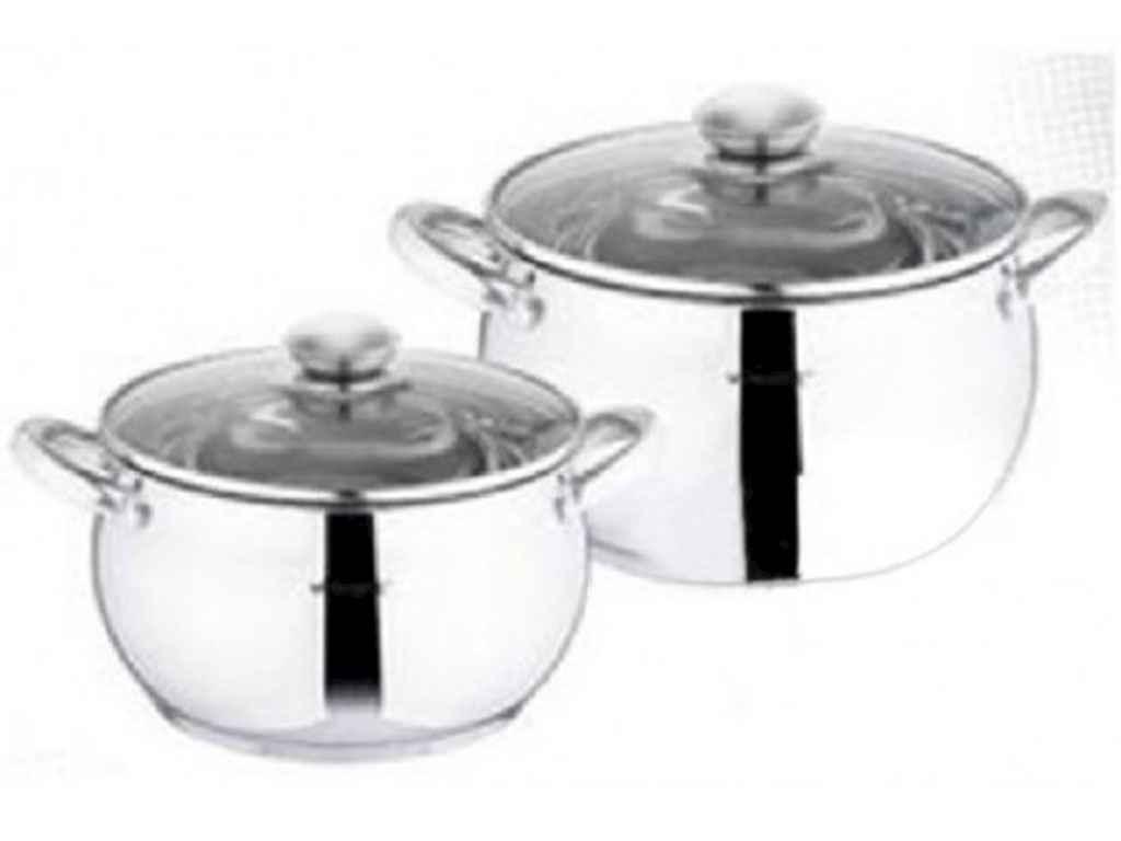 Набор посуды из нержавеющей стали Vincent 2 предмета 2,2л/4л (VC-3031)