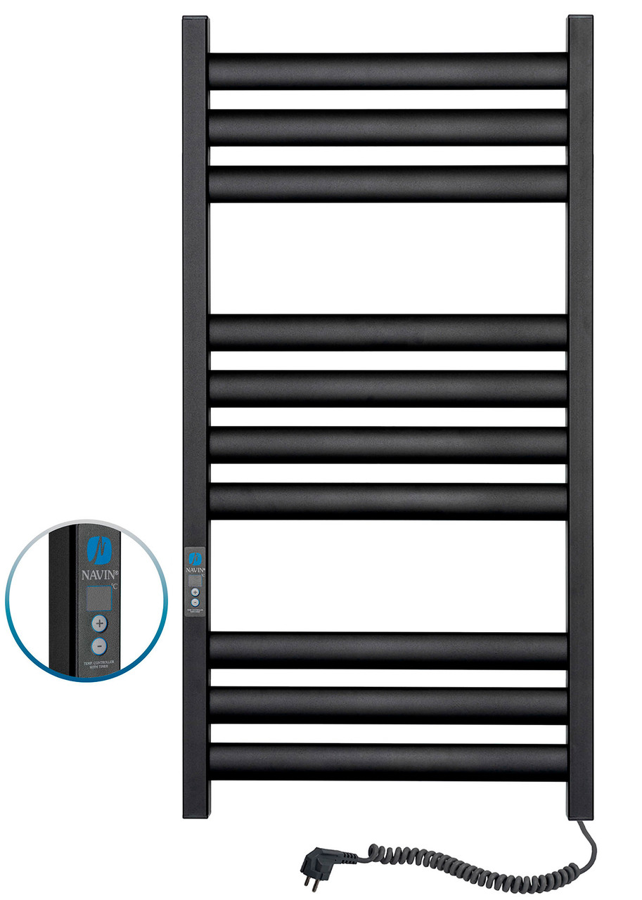 Полотенцесушитель Ellipse 500х1000 Digital правый (черный муар) 12-245052-5010