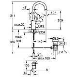 Змішувач для раковини Grohe BauLoop 23763000 L-Size, фото 2