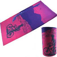Бафф бандана-трансформер, шарф из микрофибры, вело2