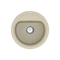 Кухонна мийка VANKOR Lira LMR 01.44 Beige + сифон VANKOR