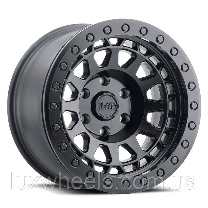 BLACK RHINO Primm Beadlock MATTE BLACK W/ BLACK BOLTS