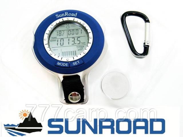 Рыбацкий брелок барометр часы SunRoad SR-204 с указанием погоды и благоприятного момента для рыбалки