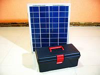 Походная мини электростанция на солнечных батареях, банк солнечной энергии 12v для зарядки телефона, планшета, фото 1