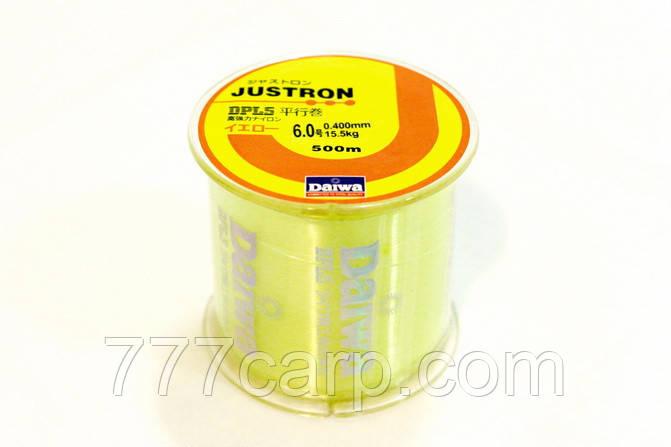 Лескa Daiwa Justron DPLS 0.40 мм. флуорисцентная размотка 500 м.