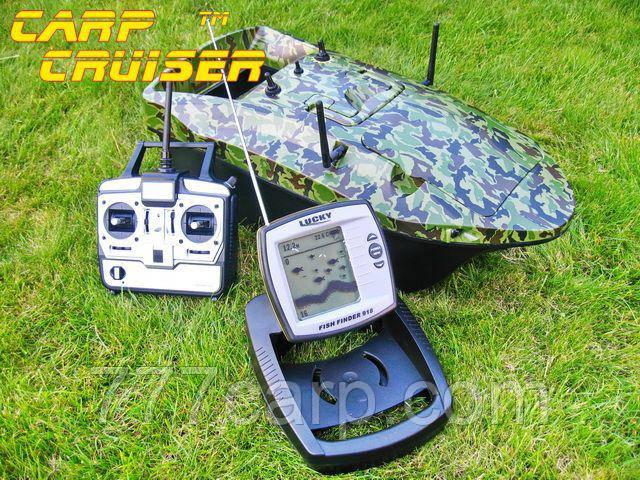 Кораблик для прикормки CarpCruiser-CF9W с эхолотом LUCKY FF918, радиоуправляемый для рыбалки