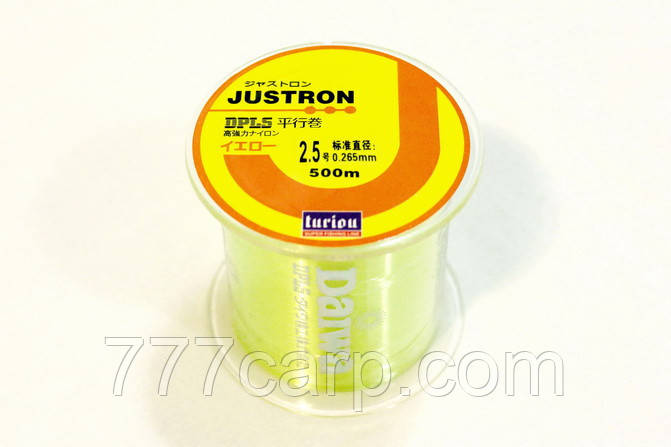 Лескa Daiwa Justron Turiou DPLS 0.28 мм флуоресцентная, намотка 500м