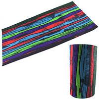 Бафф бандана-трансформер, шарф из микрофибры, цветной забор