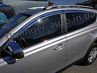 Дефлекторы окон (ветровики) хромированные Toyota RAV4 2013- (Autoclover D690)