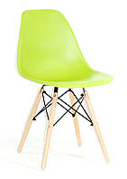 Стул дизайнерский Nik N  зеленый 41 на деревянных буковых ножках, фото 1