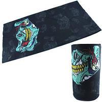Бафф бандана-трансформер, шарф из микрофибры, зомби