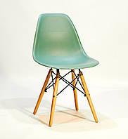 Стул дизайнерский Nik N  зеленый 40 на деревянных буковых ножках, фото 1