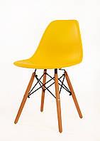 Дизайнерський стілець Nik N жовтий 12 на букових дерев'яних ніжках