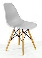 Дизайнерський стілець Nik N сірий 10 на букових дерев'яних ніжках