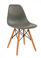 Дизайнерський стілець Nik N сірий 21 на букових дерев'яних ніжках