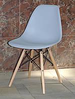 Стул дизайнерский Nik N  серый 35  на деревянных буковых ножках, фото 1