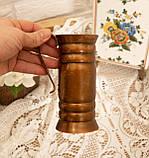 Старый медный кувшинчик, медная ваза, медный декор, Германия, 13 см, фото 2