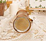 Старый медный кувшинчик, медная ваза, медный декор, Германия, 13 см, фото 3