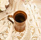 Старый медный кувшинчик, медная ваза, медный декор, Германия, 13 см, фото 4