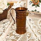 Старый медный кувшинчик, медная ваза, медный декор, Германия, 13 см, фото 7