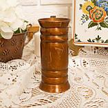 Старый медный кувшинчик, медная ваза, медный декор, Германия, 13 см, фото 8