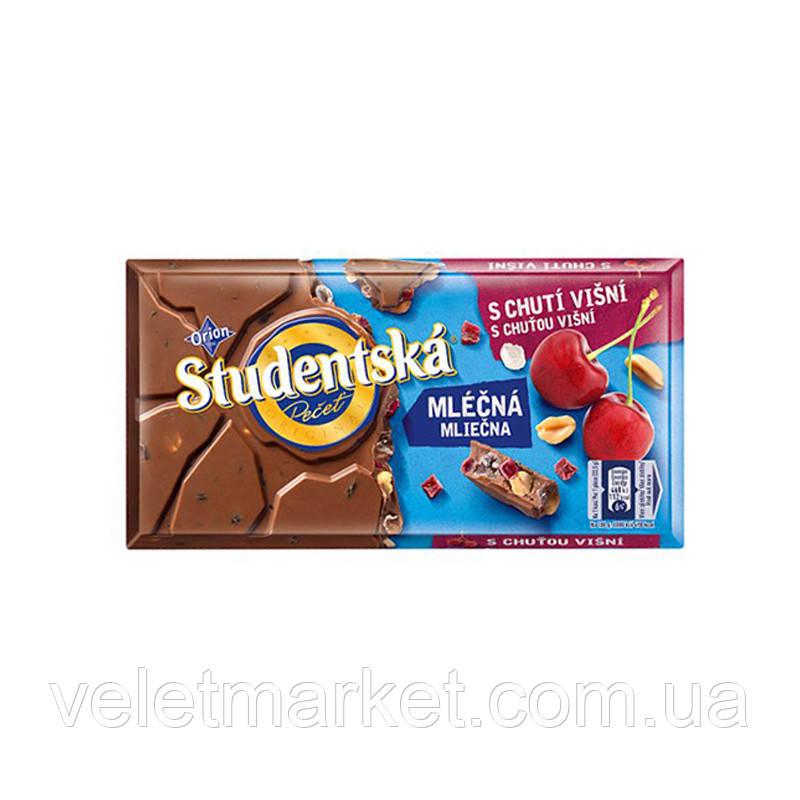 Шоколад Молочный Studentska Вишня с арахисом, 180 г