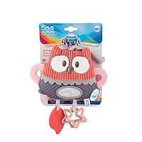 Мягкая обучающая игрушка с подвеской для коляски/кроватки  Pastel Friends, Canpol babies - кораловая