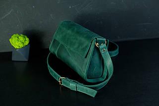 Вечірня Сумочка Френкі Вінтажна шкіра колір Зелений, фото 2