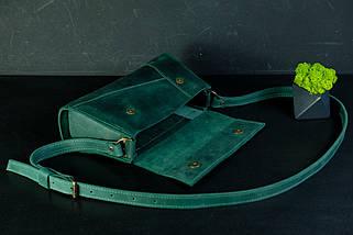 Вечірня Сумочка Френкі Вінтажна шкіра колір Зелений, фото 3