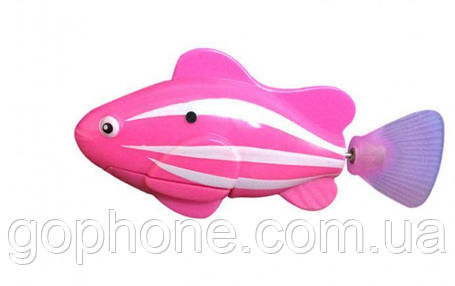 Нано - рыбка для аквариума на батарейках RoboFish (Розовая), фото 2