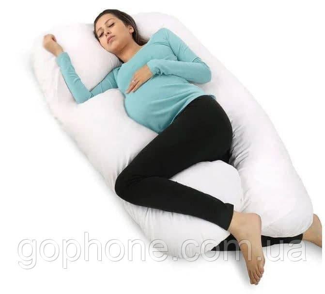 Подушка U образная для комфортного сна (Серая)