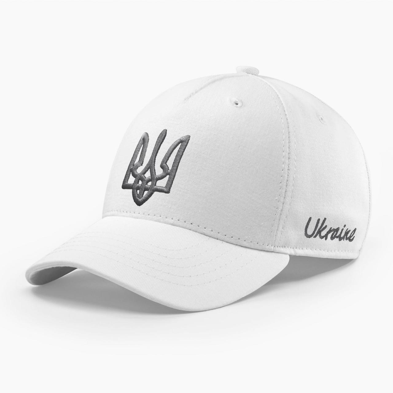 Кепка бейсболка мужская INAL с гербом Украины S / 53-54 RU Белый 278953