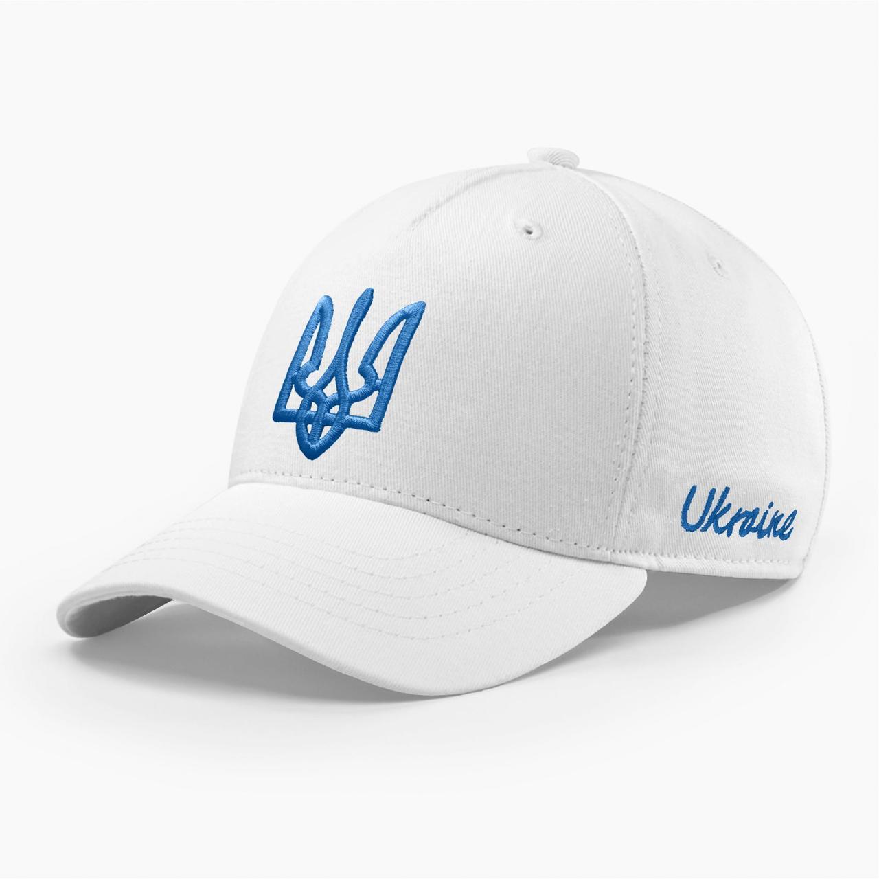 Кепка бейсболка мужская INAL с гербом Украины S / 53-54 RU Белый 280353