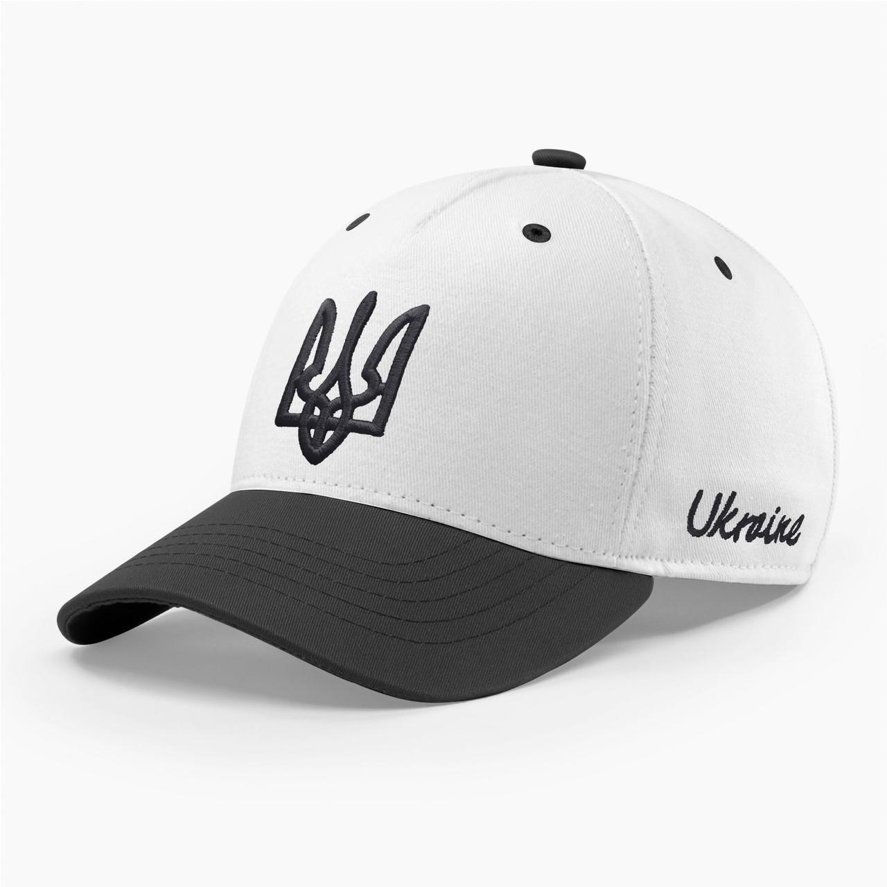 Кепка бейсболка мужская INAL с гербом Украины S / 53-54 RU Белый 280653