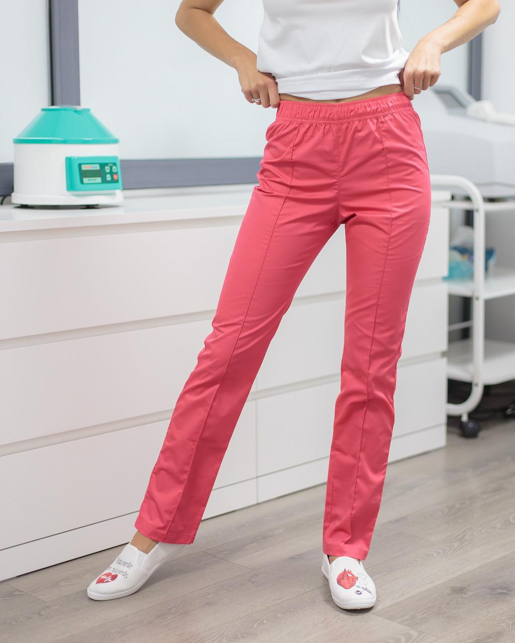 Медичні жіночі брюки корал
