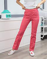 Медичні жіночі брюки корал, фото 1