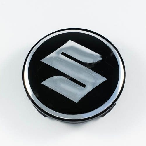 Ковпачок для диска Suzuki чорний / хром лого (59 мм)
