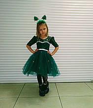 Платье Лягушки зеленое пышное платье изумрудное