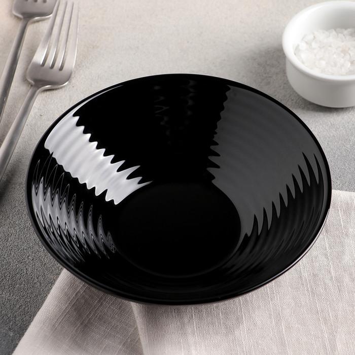 Тарелка глубокая Harena Black 16 см P7612