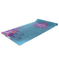 Yoga mat каучуковый двухслойный 3мм Record FI-5662-53