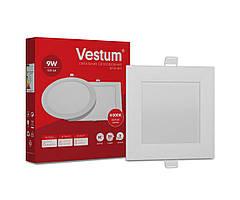 Квадратный светодиодный врезной светильник Vestum 9W 4000K 220V 1-VS-5203